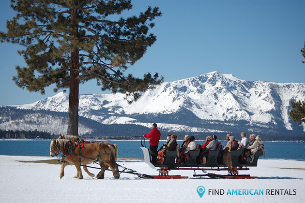 Happy Christmas Day, skiers, Telluride, Lake Tahoe and Nevada , Colorado, California