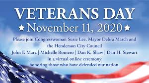 Veterans Day on November 11, 2020